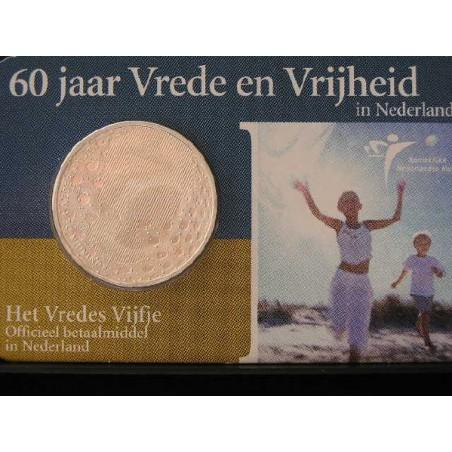 Nederland 2005 5 euro  60 jaar vrede en vrijheid Unc In Coincard