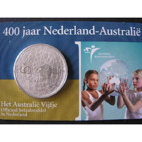 Nederland 2006 5 euro Australië Unc In Coincard