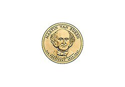 KM 429 U.S.A. 8th President Dollar 2008 D Martin van Buren