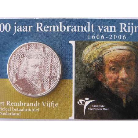 Nederland 2006 5 euro Rembrandt  Unc In Coincard