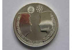 Nederland 2002 10 Euro Huwelijksmunt Zilver Unc