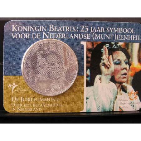Nederland 2005 10 euro Regeringsjubileum Zilver Unc in Coincard