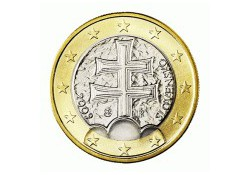 1 Euro Slowakije 2009 UNC