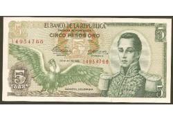P406b Colombia 5 Peso Oro Unc