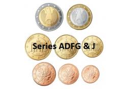 Serie Duitsland 2005 ADFGJ UNC