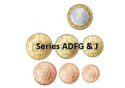 Series Duitsland 2009 ADFGJ UNC Zonder de 2 euromunt