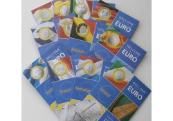 Set van 12 sets Welcome Euro met zilveren Penning