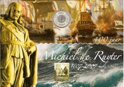 5 euro UNC 2007 Michiel de Ruyter, met 5 zegels