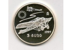 Penning 5 euro Spanje 1997 Zilver Vliegtuig