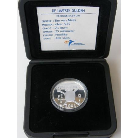 1 Gulden leeuwtje 2001 Proof Zilver!! ZELDZAAM