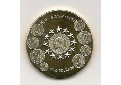 Km+??? Liberia 5 Dollars 2004 FDC