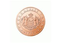 Monaco 2 Cent 2001 Unc