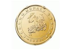 Monaco 2001 20 Cent Unc
