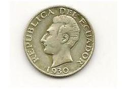 Km 71 Ecuador 50 Centavos 1930 Zf+