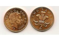 Km 987 Groot-Brittannië 2 Pence 2000 Unc