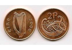 Km 21a Ierland 2 Pence 2000 Unc