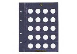 Leuchtturm Vista aanvulblad voor de 2 euromunten Set van 2stuks