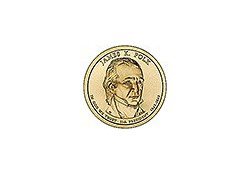 KM ??? U.S.A. 11th President Dollar 2009 D James K. Polk