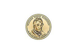 KM ??1 U.S.A. 9th President Dollar 2009 P William Harrison