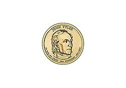 KM ??? U.S.A. 10th President Dollar 2009 P John Tyler