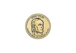 KM ??? U.S.A. 10th President Dollar 2009 D John Tyler