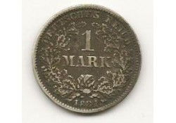Km 7 German Empire 1 Mark 1881 E Zf