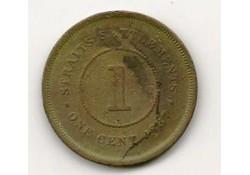 Km 16 Straits Settlements 1 Cent 1887 Zf