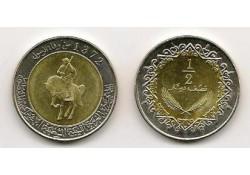 Km 15 Libië ½ Dinar 1372/2004 Unc