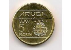 5 Florin Aruba 2007 Unc/Fdc