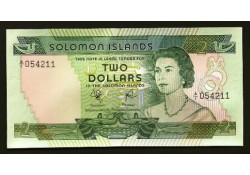 P 5 Solomon Islands 2 Dollar Unc
