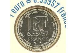 Km 1255 Frankrijk 1999 6.55957 Francs Unc in blister
