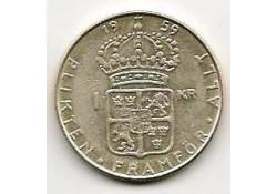 Km 826 Zweden 1 Kroon 1959  Pr