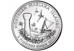 KM 466 U.S.A ¼ Dollar Mariana Islands 2009 D UNC