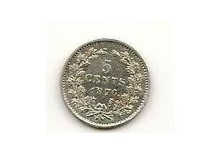 5 cent 1876 Pr