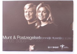 10 euro BU 2002 Huwelijk Willem-Alexander en Maxima met zegels