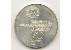 Km 78 Duitse Dem. Rebubiek 20 Mark 1980 Unc