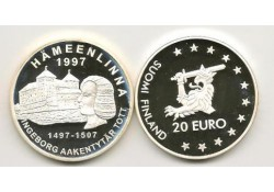 Km ??? Finland 20 Euro 1997 Proof