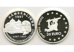 Km ??? Finland 20 Euro 1997 Proof