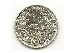 Km 1376 Italië 10 Soldi 1868 Pr-