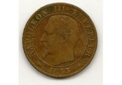 Km 777.3 Frankrijk 5 centimes 1853 Zf+