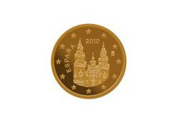 1 Cent Spanje 2010 UNC