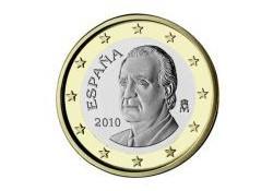 1 Euro Spanje 2010 UNC Nieuw ontwerp!!
