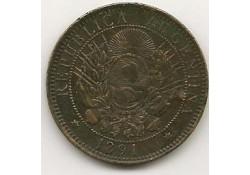 Km 33 Argentinië 2 Centavos 1891 Zf-
