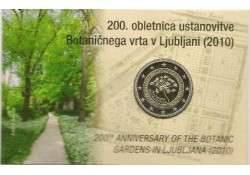 2 Euro Slovenië 2010 Botanische Tuin Bu in coincard