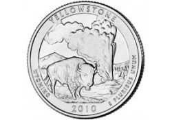 KM 470 U.S.A ¼ Dollar Yellowstone 2010 P UNC