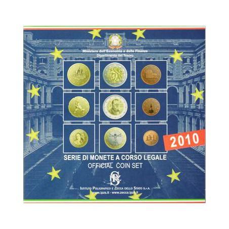 Bu set Italië 2010 met de 2 Euromunt comm.