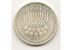 Km 138 Duitsland Federal Republic 5 Mark 1974 F Unc-