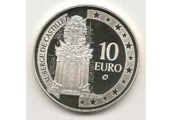 Malta 2008 10 euro zilver Auberge de Castille Proof in caps.