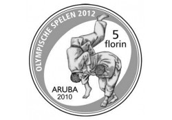 "Aruba 2010 5 Florin ""Olympics Zilver Proof Incl.doosje en Certi"