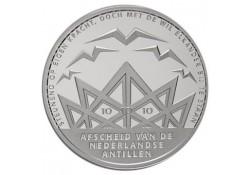 10 gulden Nederlandse Antillen 2010 Afscheid Inc. dsje &cert.